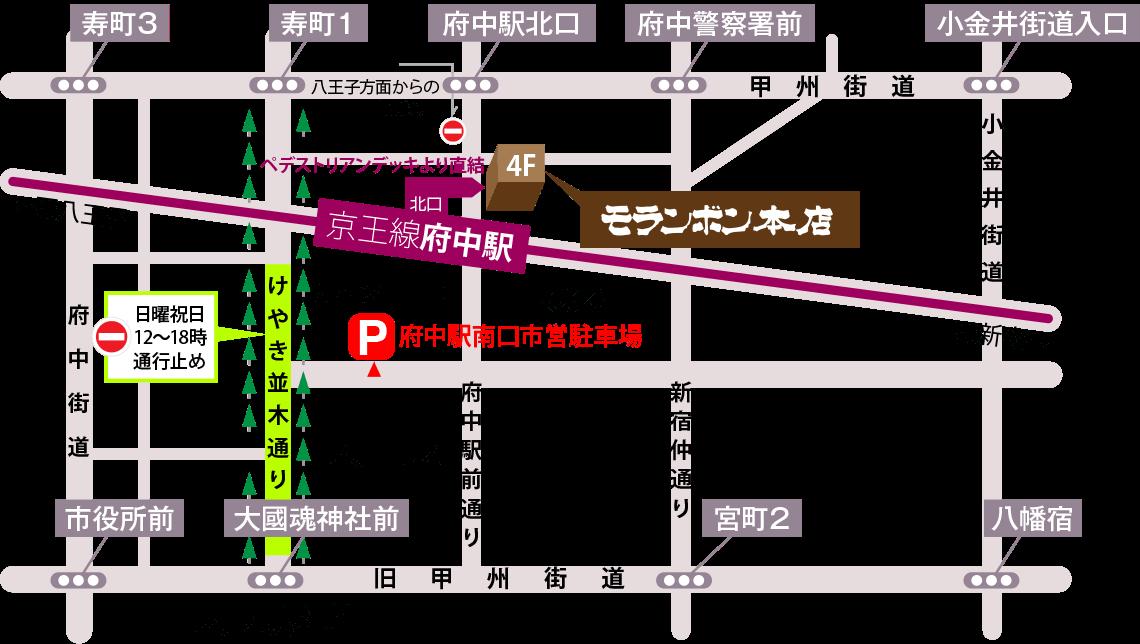 京王線新宿駅からの路線図